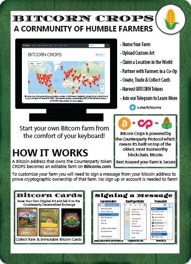 Bitcorn Crops - CORNSHEET