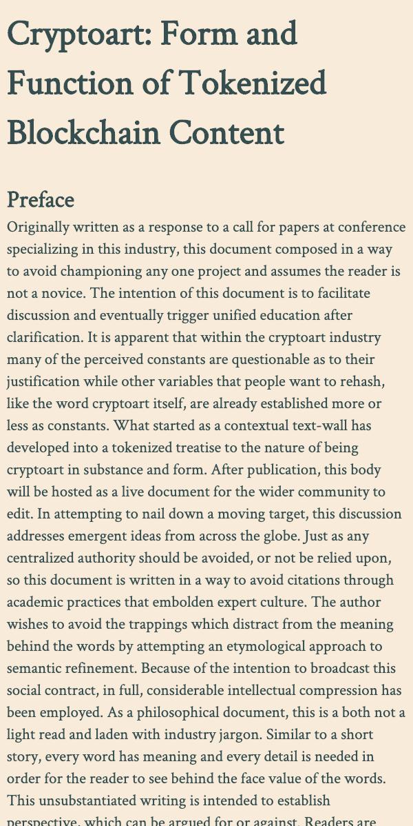 Kaleidoscope - CRYPTOART.Treatise