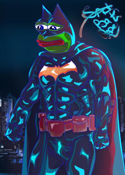 Rare Pepe - BATMANNPEPE