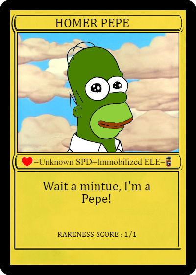 Rare Pepe - HOMERPEPE