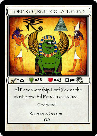 Rare Pepe - LORDKEK