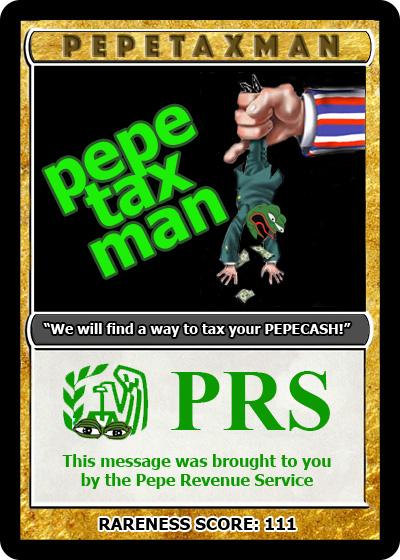 Rare Pepe - PEPETAXMAN