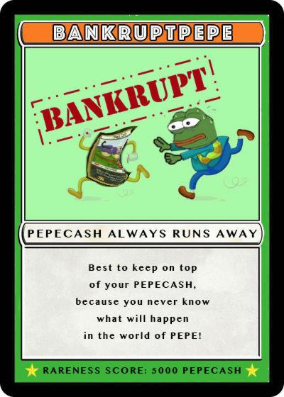Rare Pepe - BANKRUPTPEPE